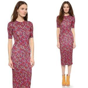 House of Holland Flower Wallpaper Midi Dress